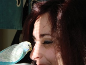 My parakeet Kailani and I